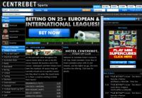Centrebet Home page - easy to navigate