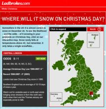 Click to visit Ladbrokes to check out this White Christmas interactive betting tool